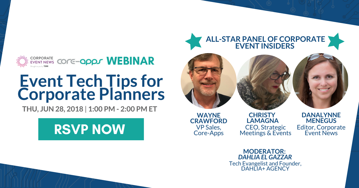 You're Invited: Webinar with Corporate Event News